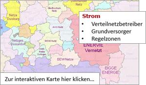 Karte Nrw Plz.Netze Und Versorger